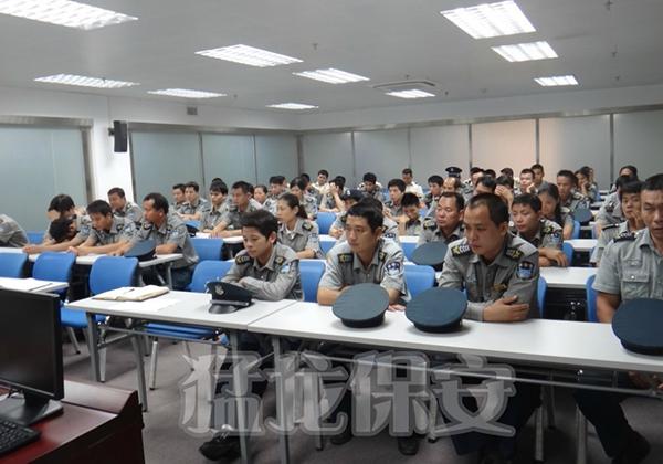 一大队组织业务培训、公司制度培训、礼仪培训